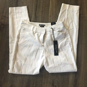 Express editor white cropped pants